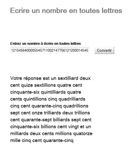 Screenshot French number webapp