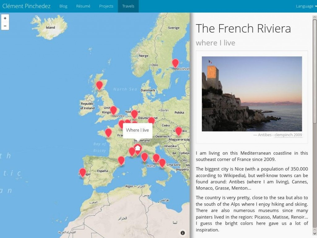 An interactive map with mapboxjs clment pinchedez travel map screenshot gumiabroncs Image collections